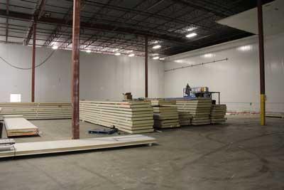 Freezer under construction in Delta