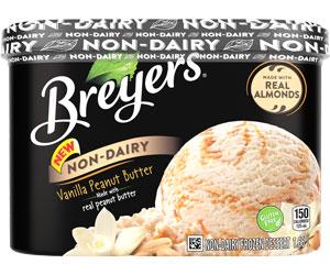 Breyers Non Dairy Vegan ice cream tub Canadian distributor