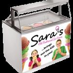 Ice Cream Parlour Scooping Cabinet 8 basket