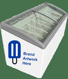7 basket novelty ice cream freezer equipment