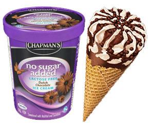 NSA No Sugar Added ice cream