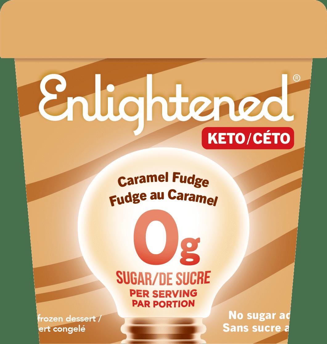 Enlightened Caramel Fudge Keto Ice Cream
