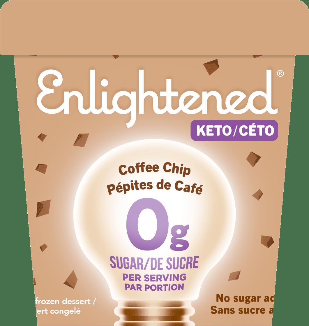 Enlightened Coffee Chip Keto Ice Cream