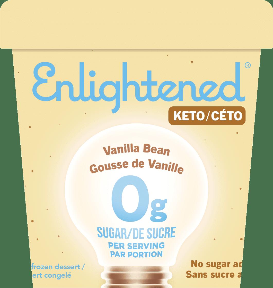 Enlightened Vanilla Bean keto ice cream