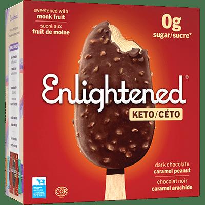 Enlightened Dark Chocolate Caramel Peanut Bar